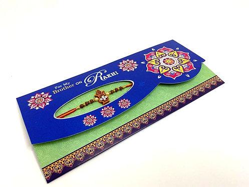 Rakhi Greeting Card With Rakhi