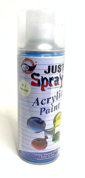 Acrylic paint spray ( clear gloss )