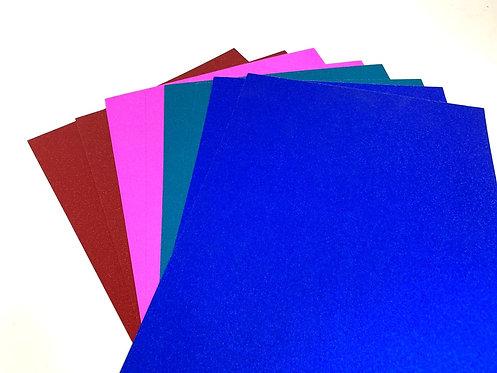 glitter hard paper ( set of 8 )