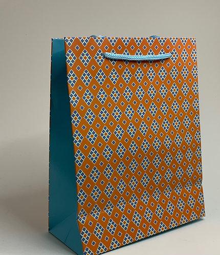 Orange Designed Paper Bag