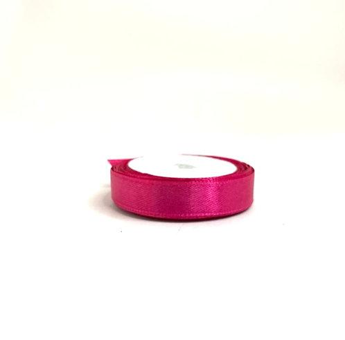 Saitn ribbon ( dark pink colour  ) (1/2 inch thick ,10 mtr lenth )