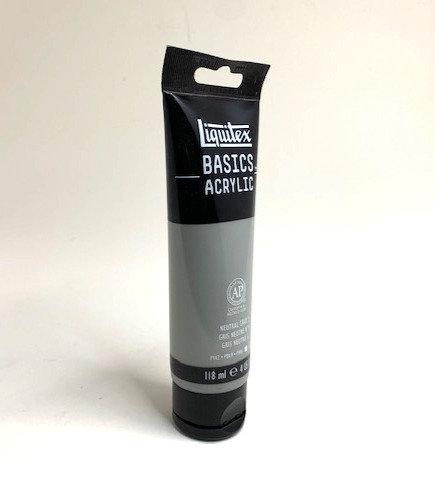 BASICS ACRYLIC COLOUR (neutral gray 118 ml )