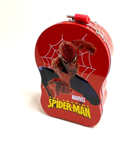 Piggy Bank Metal Body With Lock For Key ( spiderman )