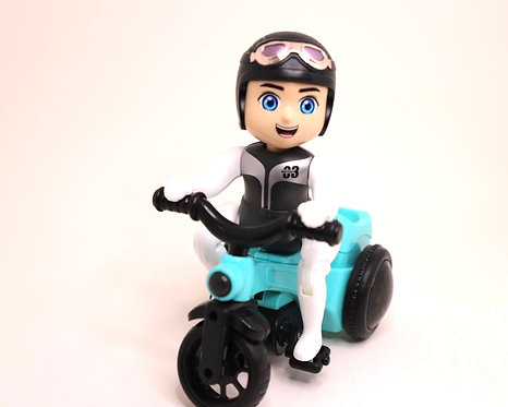 Bicycle toys-bump & go motorcycle toy with sound & flashing light