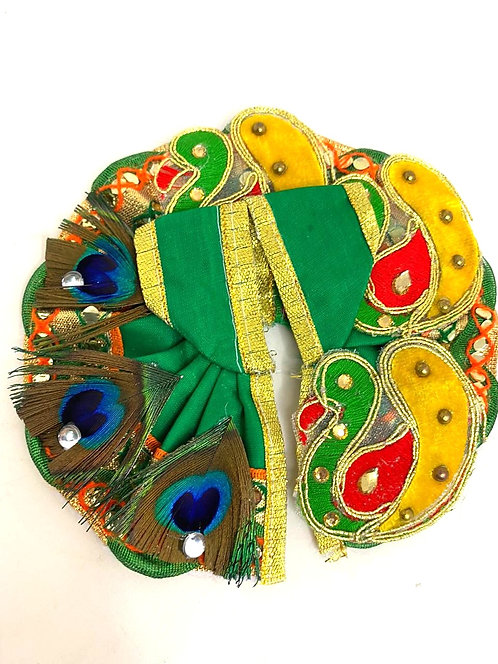 Peacock design laddu gopal dress for kanha ji
