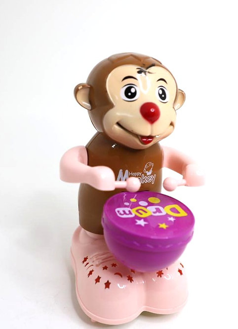 Monkey musical toy for kids with light and sound