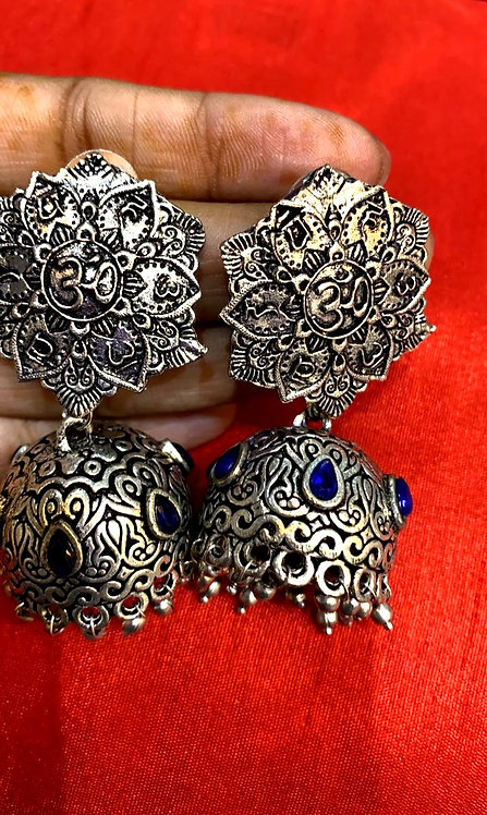 oxidized earing for women ( jhumka )