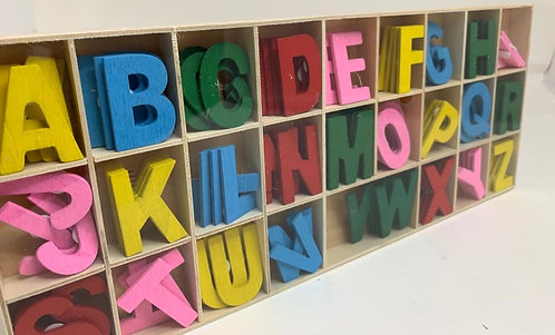 Colourfull Wooden Alphabets ( for craft )