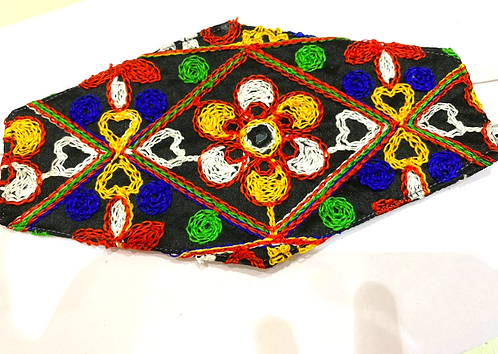 Sindhi Embroidery 2 Layered Cloth Face Mask, Fully Sanitised & Safe