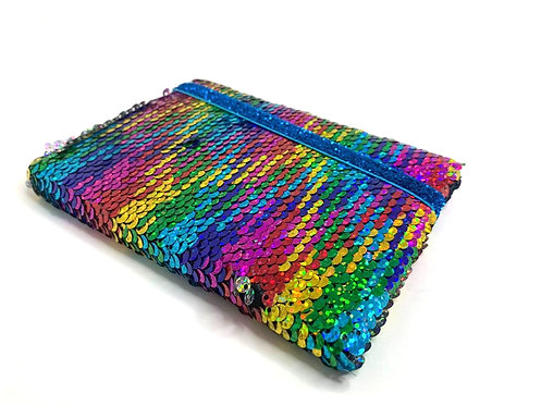 Colourful Sequin Changing Diary/Notebook
