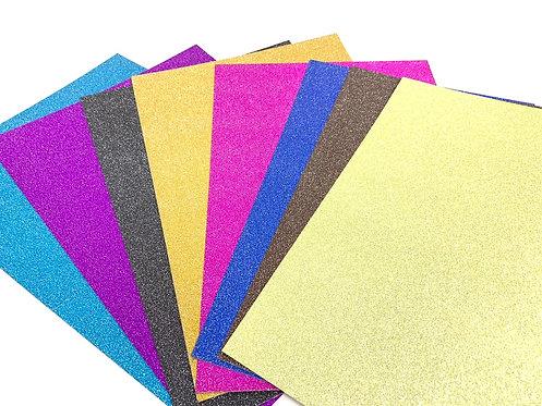Glitter Paper ( set of 10 )