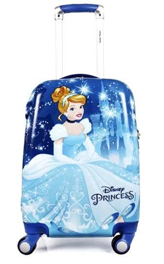 HUMTY DUMTY Diseny Cinderella Blue Polycarbonate Trolley Bag