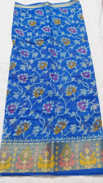 pure cotton saree with blouse with beautiful border