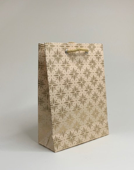 Golden and light brown Paper bag