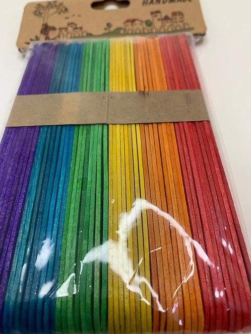Colourful Wooden Icecream Sticks (long)