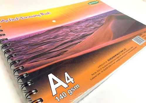 Artist Drawing Book (A4 size) ( 140 gsm ) ( 100 pages )