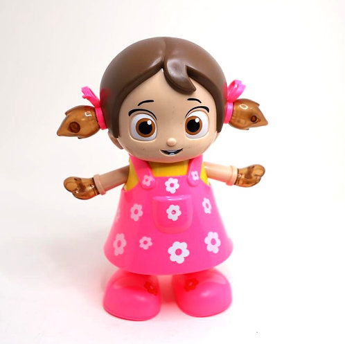Dancing girl toy with 3d lights and music