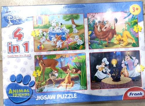 DISNEY animal friends puzzle 4 in 1 ( 12 pcs ) (age 3 + )