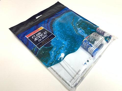 CAMLIN Fluid Acrylic Paint (diy kit) Aqua Shades