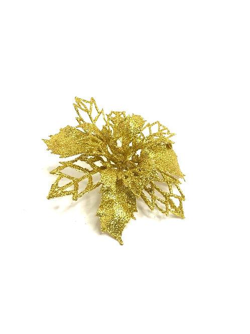 Decorative glitter golden flower