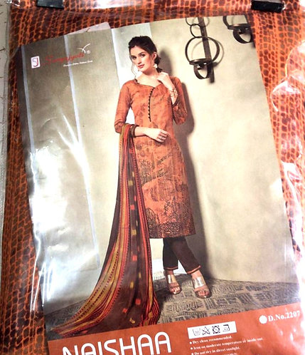Pure Sofft Cotton Dress Material With georgette  Dupatta