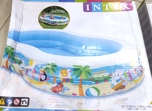 INTEX inflatable snapset pool, multi colour ( 8.5 feet long ,5fit hight )