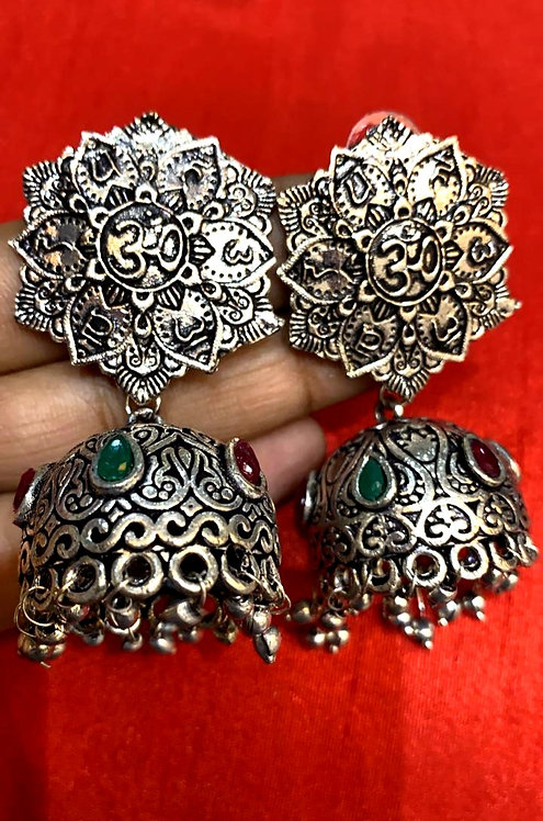 oxidized earing for women( jhumka )