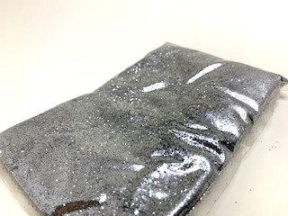 Sparckle  silver colour  pouch