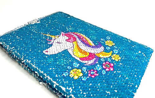 Unicorn Sequin Colour Changing Dairy ( A5 Size )