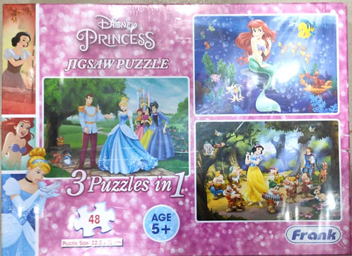 DISNET PRINCESS  3 IN 1 Puzzles ( 48 pcs ) ( age 5+ )