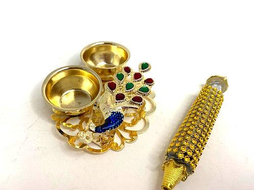 Janmashtami special pichkari ,use for tilak (golden colour )