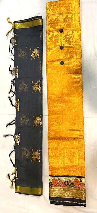 cotton silk dress material with dupatta