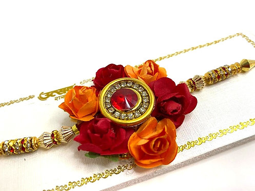 Exclusive special rose floral and colourfull designs beautiful rakhi
