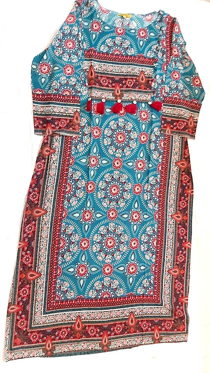 Rayon Cotton Kurti