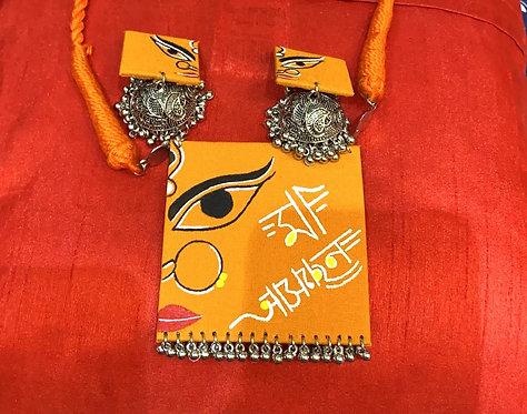Navratri special  hand printed necklace set