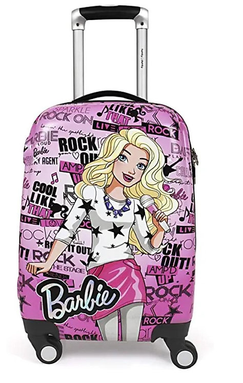HUMPTY DUMPTY Barbie Star Pink Polycarbonate 18-Inch Trolley/Suitcase Bag