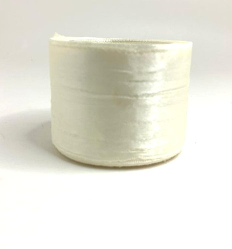 Satin Ribbon (cream colour ) (2 inch thick ,10m length)