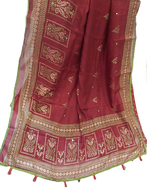Jute pure cotton Saree