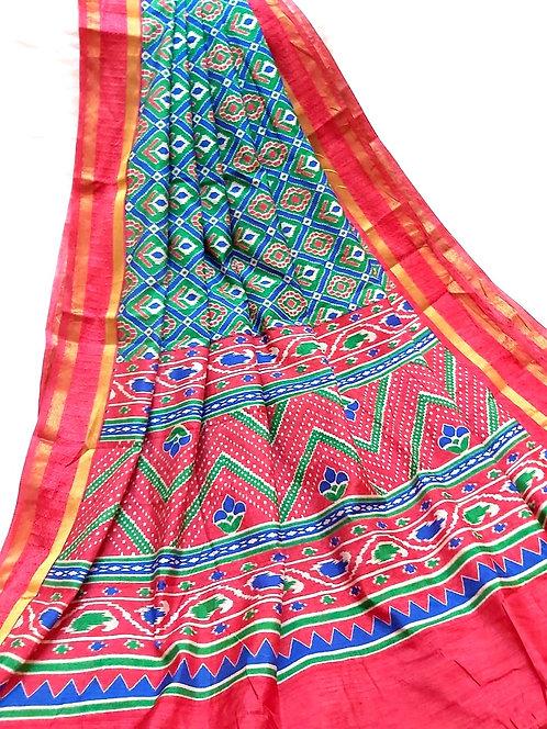 Patola silk,patola parrern saree with blouse
