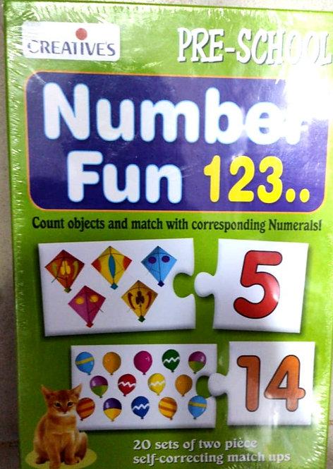 Flash card number fun 123