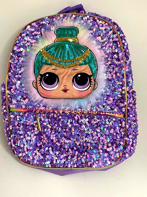 Sequin Colour Changing  Bag (14x12x3 inch )