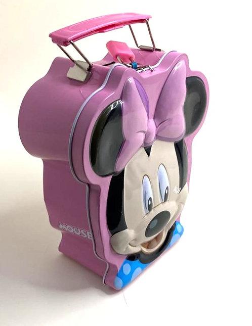 Mickey Mouse Cartoon Metal Piggy Bank /Coin Box ( pink  )