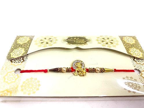 Design stone kanha  rakhi with long lasting mauli dhaga