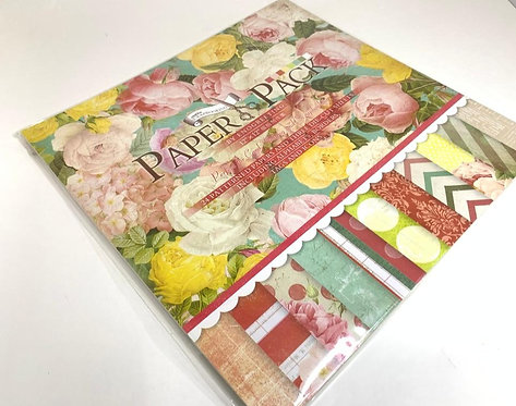 "Printed Wrapping Paper Book ( 12"" by 12"" )"