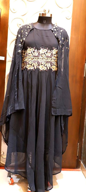 Exclusive georgette long stylish gown ( XL )