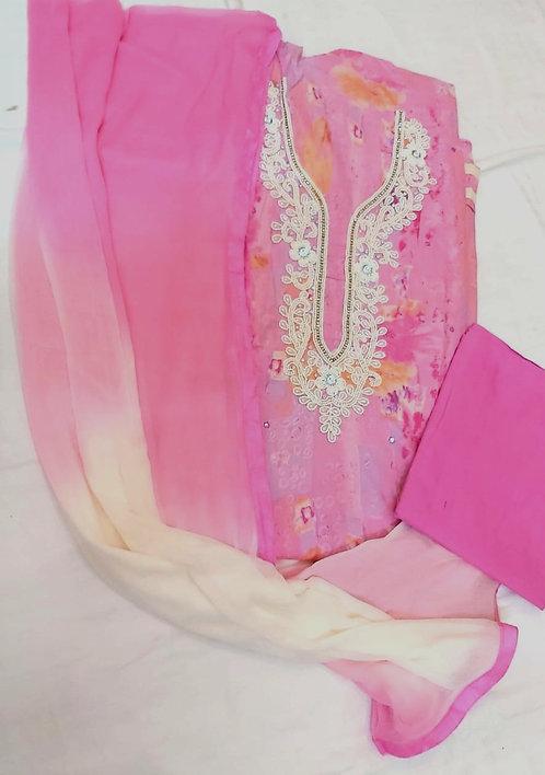 Rayon Cotton Dress Matrial