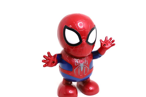 Dancing superhero spider man action figure,light  and music (19x18x8cm)