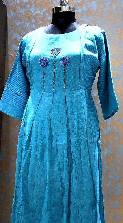 heavy rayon frock style kurti ( size XL )