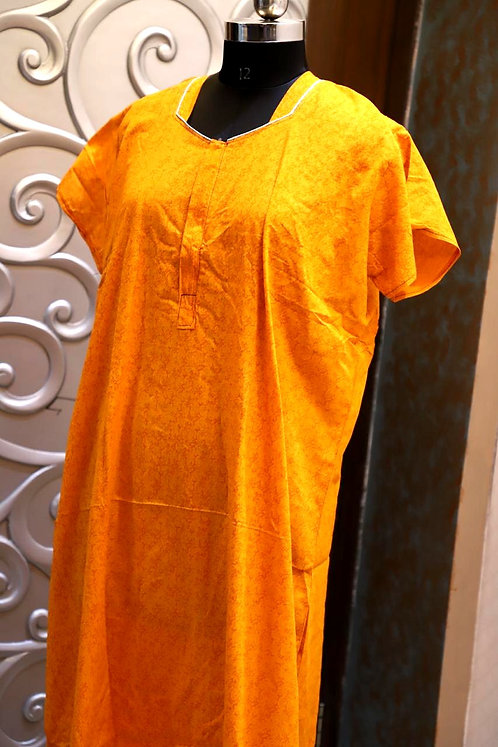 pure cotton gown  ( free size )