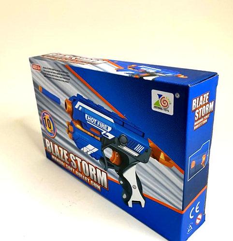Manual Soft Bullet Shooting Gun Toy With 10 Safe Foam Bullet For Kids